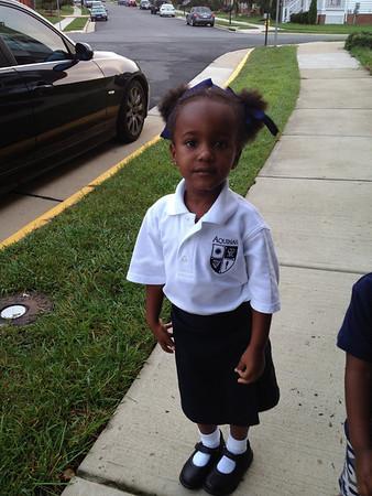 Amanda Grace's First Day of School